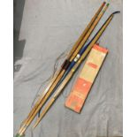 Contents to box - a quantity of Nodor and other Archery arrows and four various bows in a bag