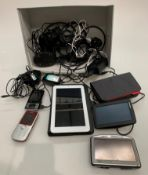 Contents to box - an Alcatel One Touch Pixi model 8055 communication device,