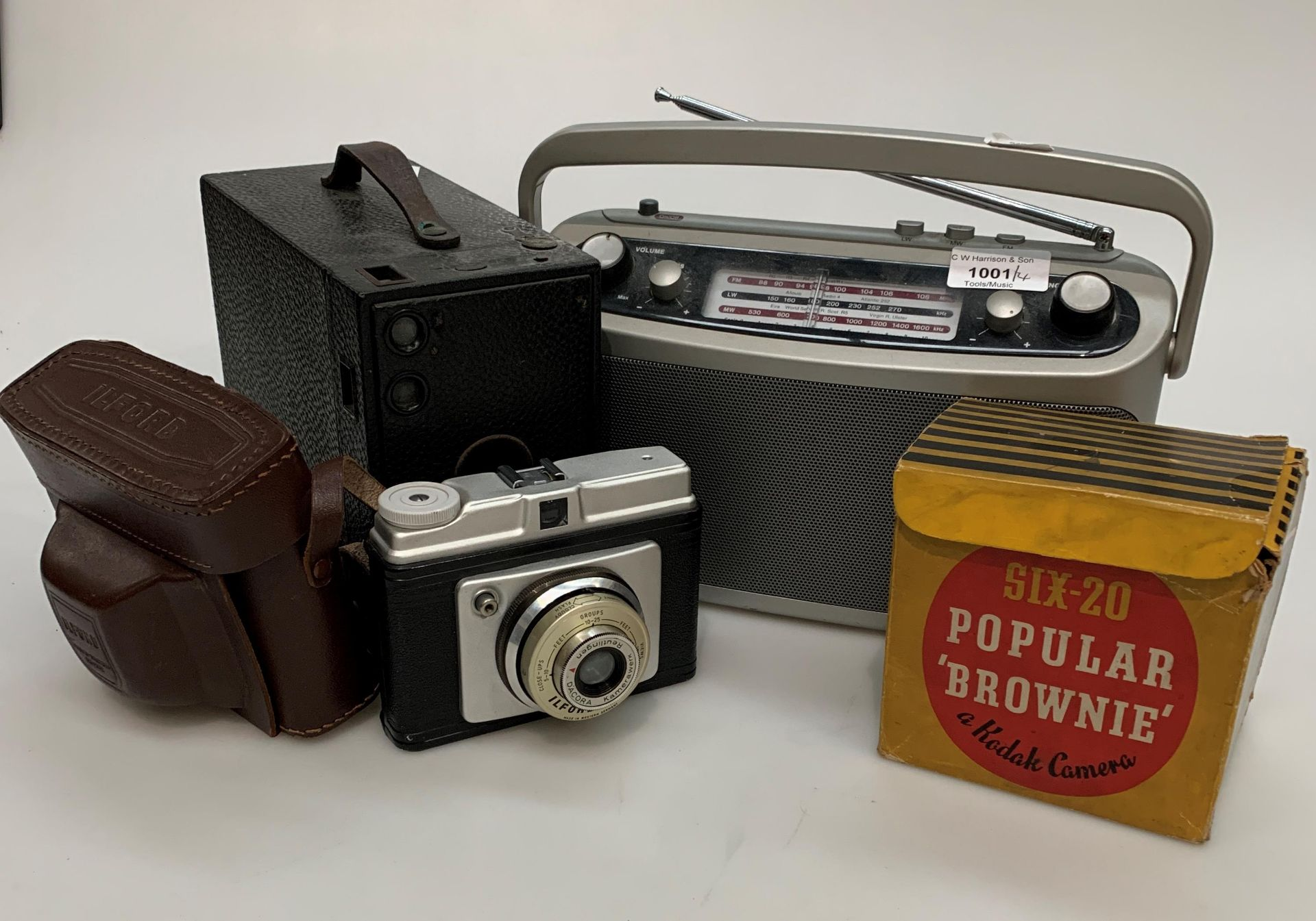 A Roberts Classic three band portable radio, a Kodak Eastman No.