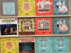 Seventeen various LPs - mainly The D'Oyly Carte Opera Company recording of various Gilbert &