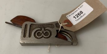 A small metal rebate plane Rd.
