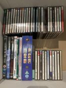 Contents to box - approximately forty items - CDs and DVDs - opera, easy listening, informational,