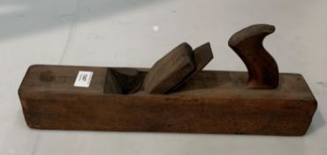 Large wood block/jointing plane blade stamped Aaron Hilditch Warranted,