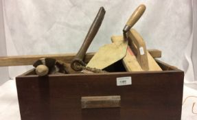 Contents to drawer - plasterers floats, trowels, chisels,