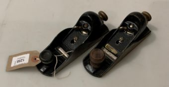 Two metal block planes,