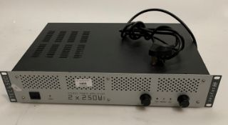 A Skytec Tec 6500 2 x 250W RMS stereo power amplifier