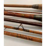 A cane three piece rod with bag,
