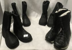 3 x pairs of Red Rock waterproof winter walking boots and 1 other pair (all size 7) (4)