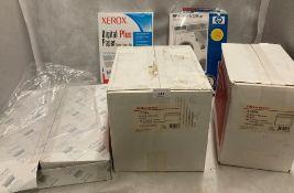 3 x boxes Office Depot white envelopes (size 110 x 220mm), 2 x boxes white envelopes (114 x 162mm),