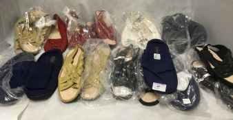 10 x pairs of ladies slip on shoes and sandals by Softredz (mostly size 6)