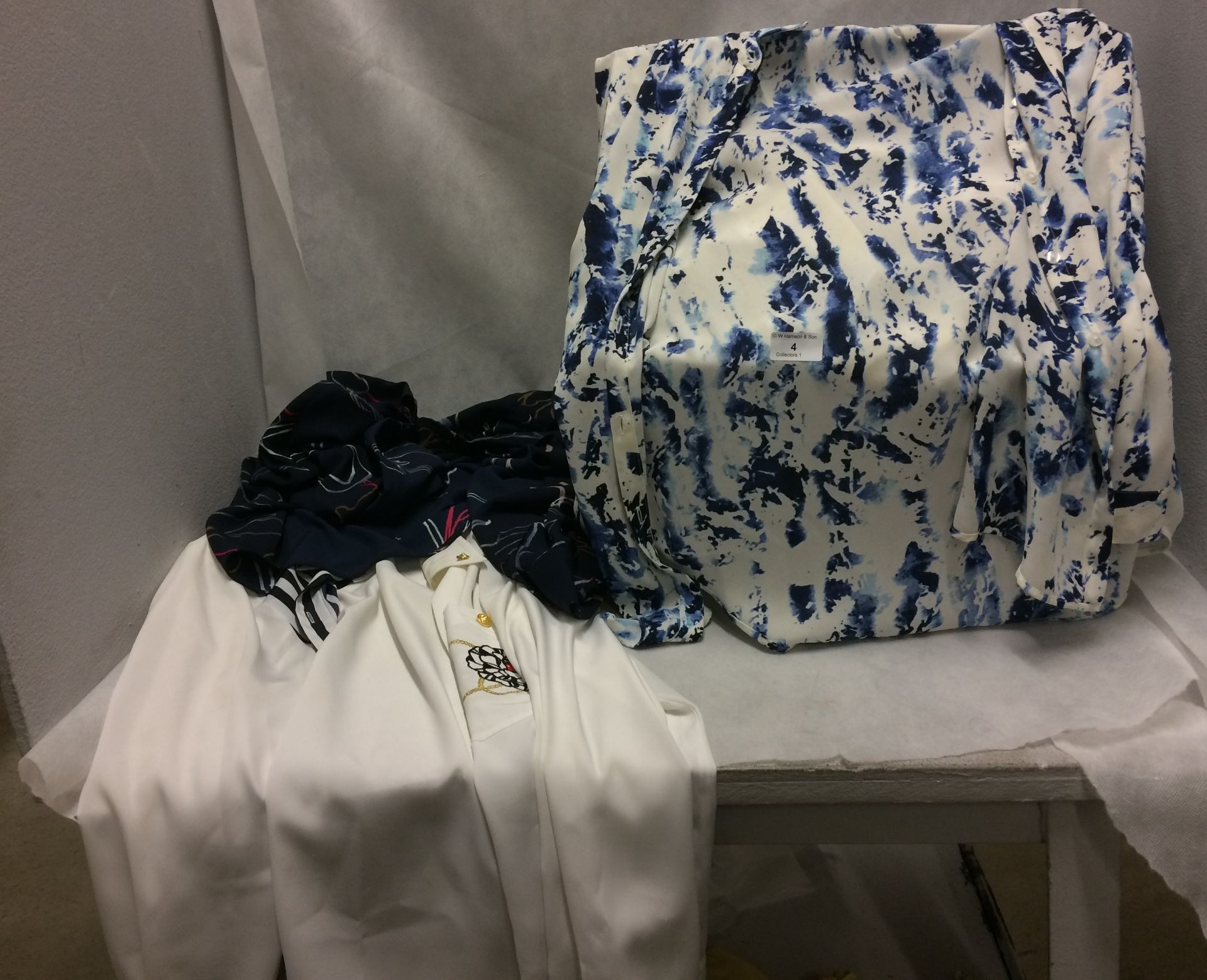 Contents to box - 20 x ladies blouses sizes 16 - 20 by M & S and Autograph (clean but now new)