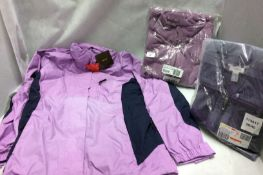 2 x ladies fleece jackets and a 2 in 1 ladies coat by Savoir and Botina (all size 12)