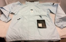 Helly Hansen light blue ladies waterproof jacket (Euro size 38)
