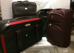 4 x assorted suitcases - 2 x large and 2 x medium