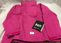 Pink Helly Hansen ladies shower proof coat (size 12)