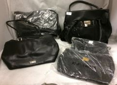 5 x assorted black handbags by Nathalie Anderson, Bon Prix It's Me,