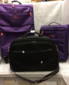 3 x assorted suitcases - 2 x Club and 1 other (3)