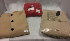 3 x wool effect ladies coats in size 12 (unbranded - 1 x unpackaged)