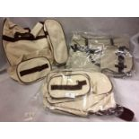 3 x assorted 2 piece bag sets (1 x unpacked)