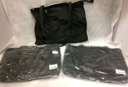2 x black leather shopping bags and 1 other by Exit (3)