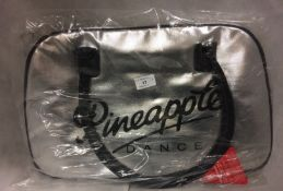 Pineapple Dance Studio retro kit bag in silver