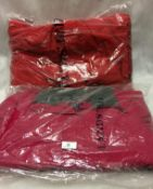 2 x winter coats by Lands End in red and crimson currant (size M)