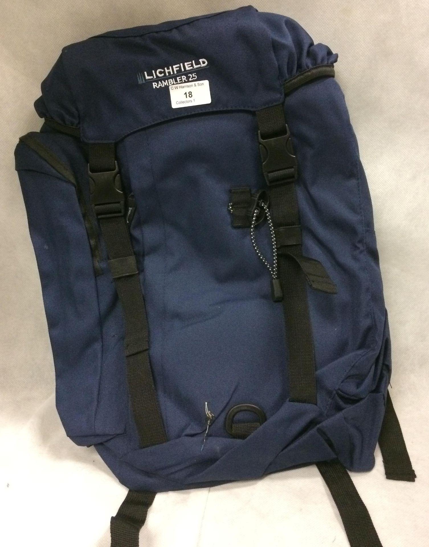 Lichfield Rambler rucksack in navy