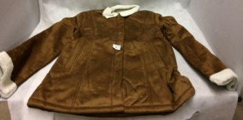 Ladies large sheepskin coat (possibly size 12)