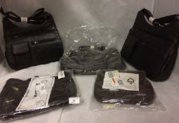 5 x assorted handbags by Stefano,