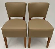 2 x Oregon Dollaro BE-9 + Interliner Crib 5 side/dining chairs with dark oak coloured frames