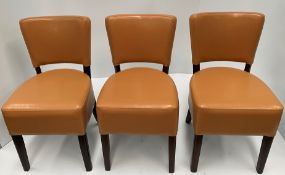 3 x Memphis Margo BR-4 Brown side/dining chairs with walnut coloured frames