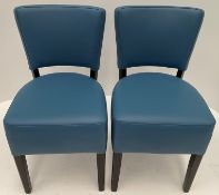 2 x Oregon Vena Lagoon NC19 side/dining chairs with Wenge coloured frames