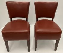 2 x Memphis Margo BR-3 Brown side/dining chairs with walnut coloured frames