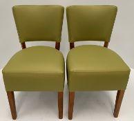 2 x Oregon Dollaro Z21 Light Green + Interliner Crib 5 side/dining chairs with dark oak coloured