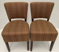 2 x Memphis Panaz Calroust Berwick Caramel 808 side/dining chairs with walnut coloured frames