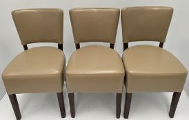 3 x Memphis Margo BE-9 Mastic side/dining chairs with walnut coloured frames
