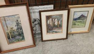 Kathleen Jutes, small framed watercolour