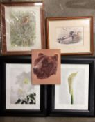 Two black effect framed photo prints by Ziggy Cramer 'Lilie' and 'Calla', each 40cm x 30cm,