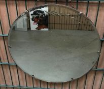 Circular wall mirror, 50cm diameter