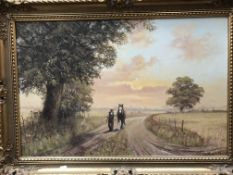 Kevin Walsh, gilt framed oil on canvas.