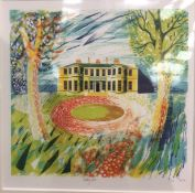 Print in mount of Rudding Park, 19cm x 18cm, signed in pencil and dated 2010,