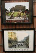Two framed photo prints 'The Great Depar