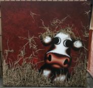 Caroline Shotton, a boxed canvas limited edition print, 'Hay',