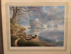 Neil Simone, framed limited edition print 'The Realms of the Imagination', 50cm x 70cm,