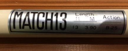 A Match 13' (3.90m) Action B-25 three pi