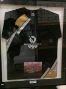 A Commonwealth Games Glasgow 2001 official merchandise framed Trespass, size L,