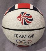 Team GB with Olympic Rings basketball (d