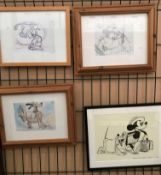 Four various framed Walt Disney prints,
