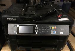 An Epsom Workforce WF-7620 desktop work centre - 240v Further Information The