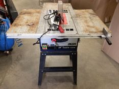 "A Power Craft 10"" table saw, serial no."